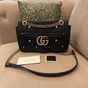 Gucci GG Marmont Crossbody Studded Bag
